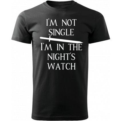 Pánské tričko Night watch - černé