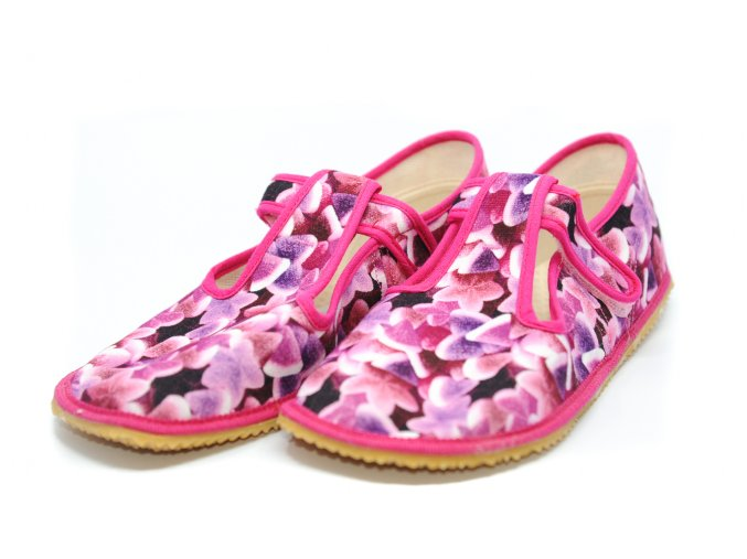 BEDA papuče Fuchsia Kvety