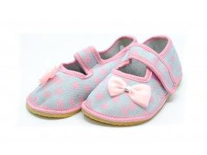 ANATOMIC papuče sivé s mašličkou