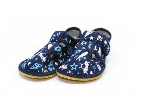 ANATOMIC papuče Vesmír s gumičkou