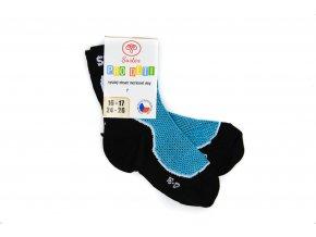 Detské športové ponožky s merinom modré