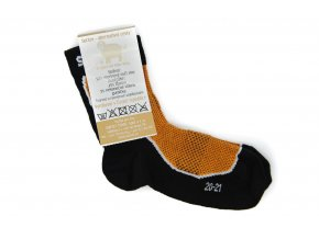 Detské športové ponožky s merinom oranžové