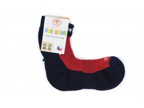 Detské froté ponožky s merinom 80%