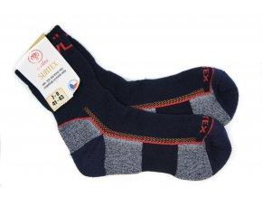 Dospelácke froté ponožky s merinom tmavomodré