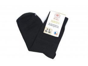 Dospelácke ponožky SURTEX klasické čierne