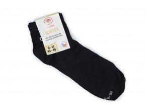 Dospelácke ponožky SURTEX členkové čierne