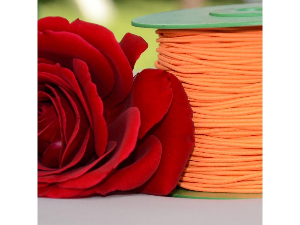 0,5 m klobouková pruženka oranžová 1,5 mm