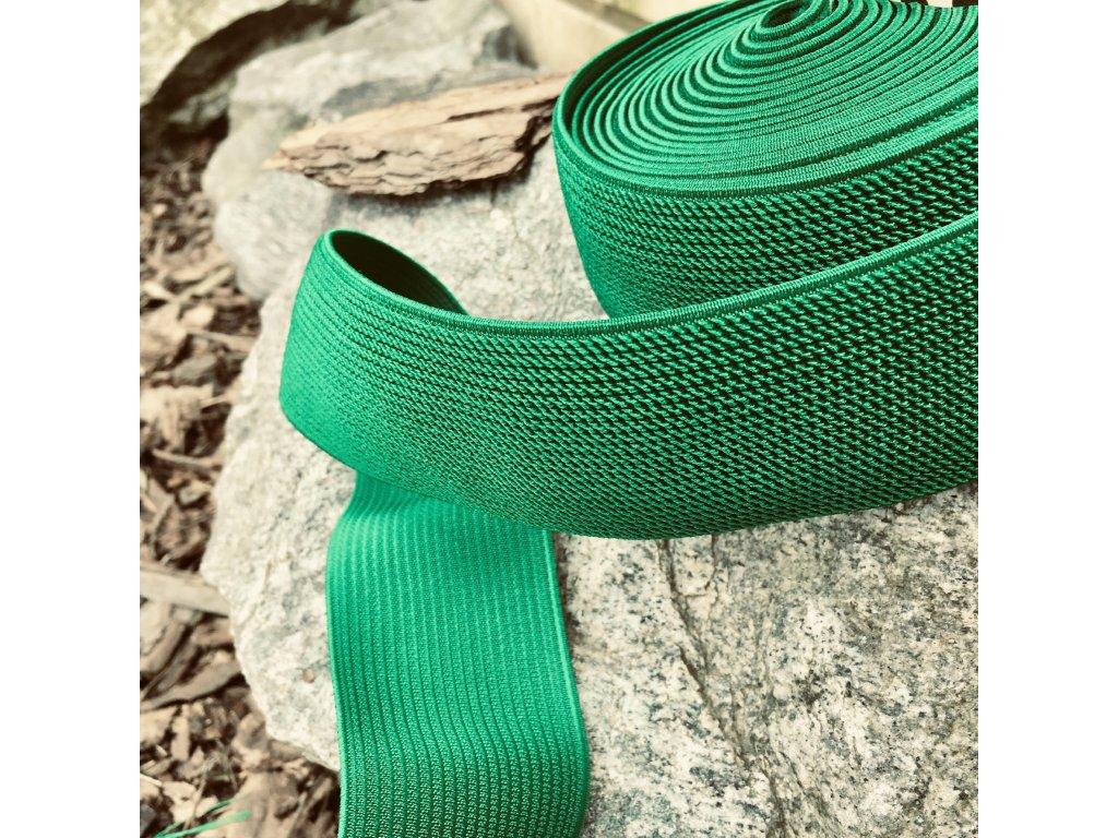 0,5 m guma do pasu sytě zelená 50 mm