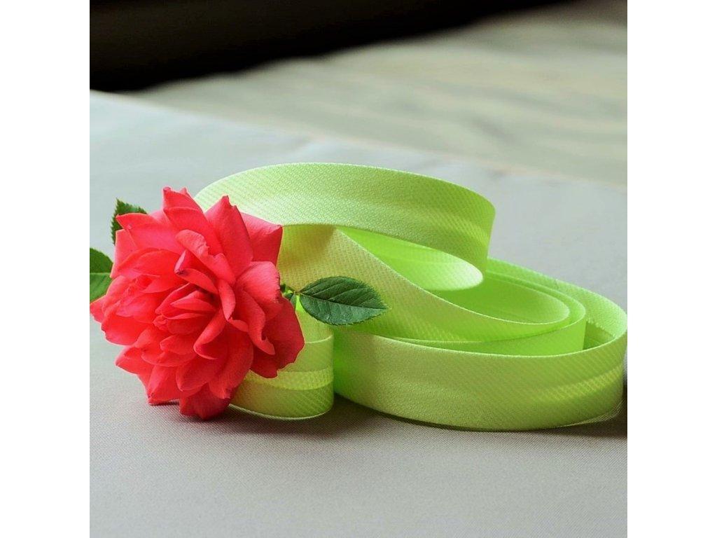 0,5 m šikmý proužek světle zelený spirálový 18 mm (polyester/bavlna)