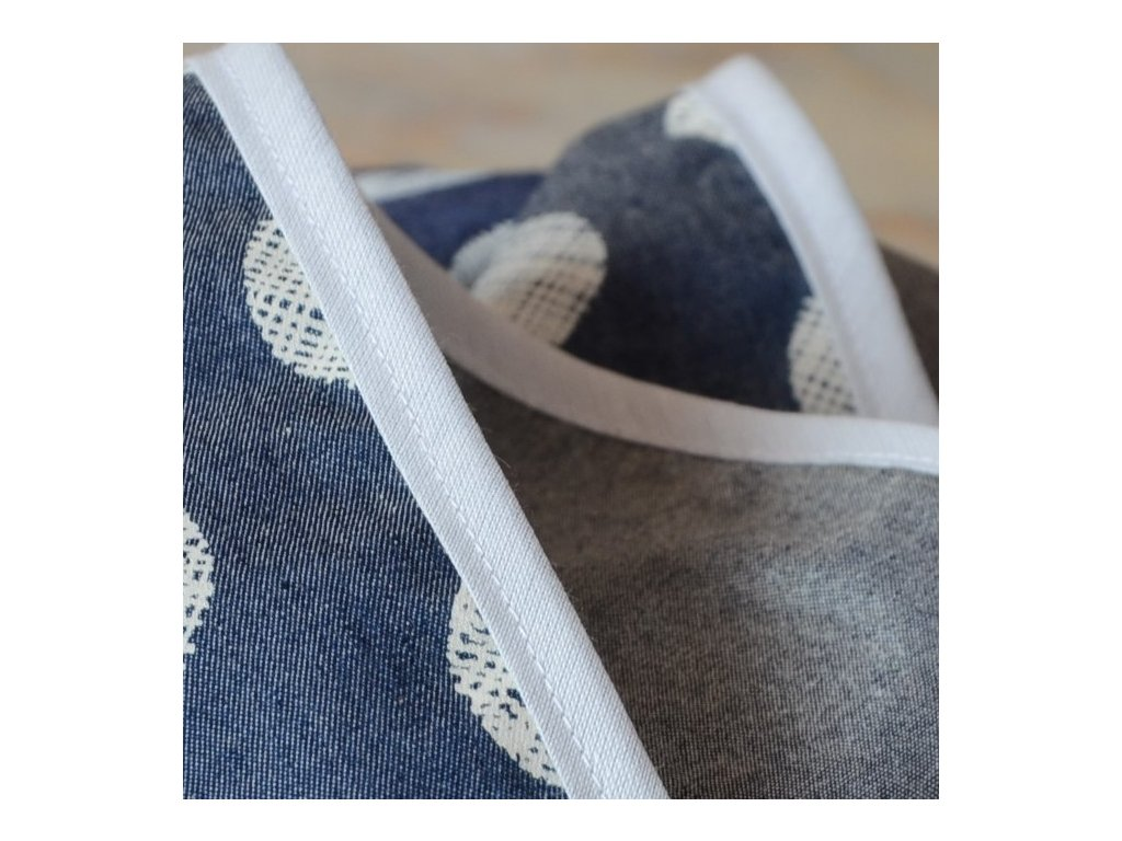 0,5 m šikmý proužek denim style šedý 18 mm (bavlna/polyester)