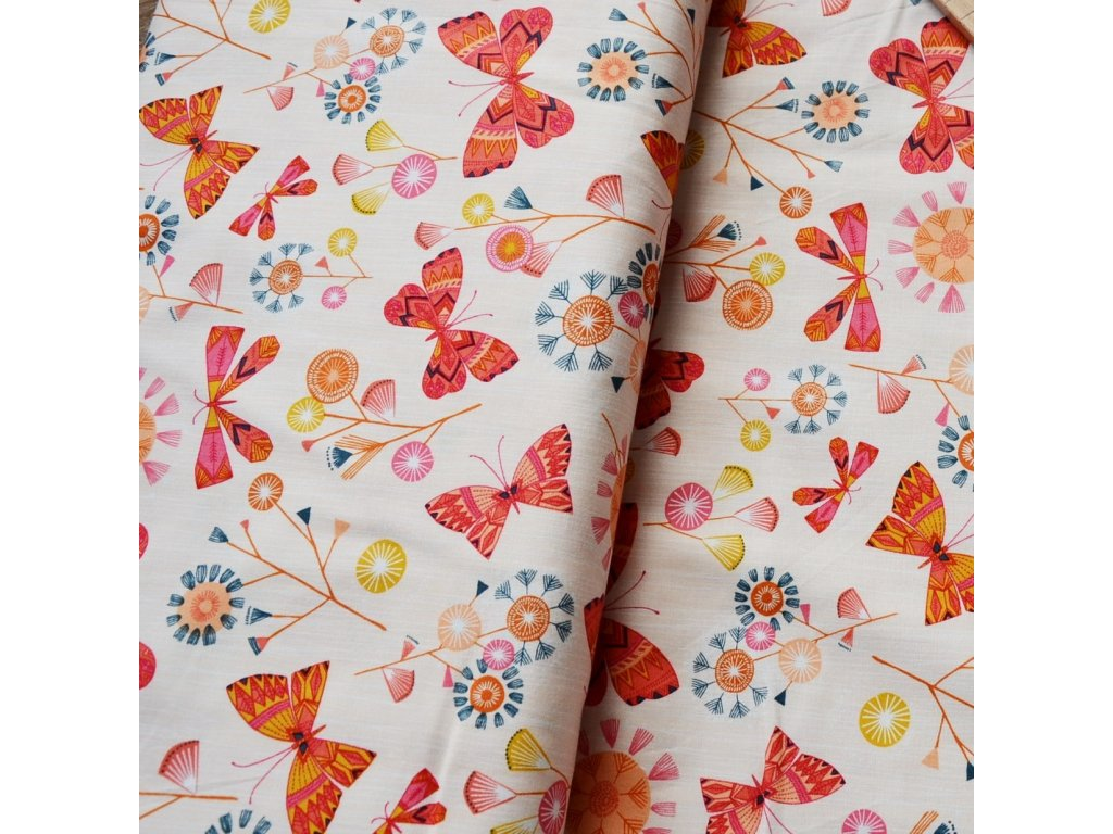 bavlna Motýlci od Dashwood Studio
