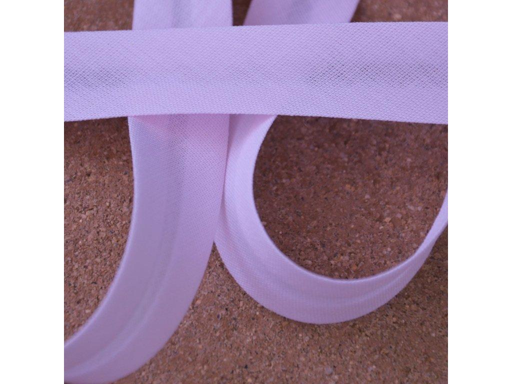 0,5 m šikmý proužek zažehlený světle růžový 18 mm (bavlna/polyester)