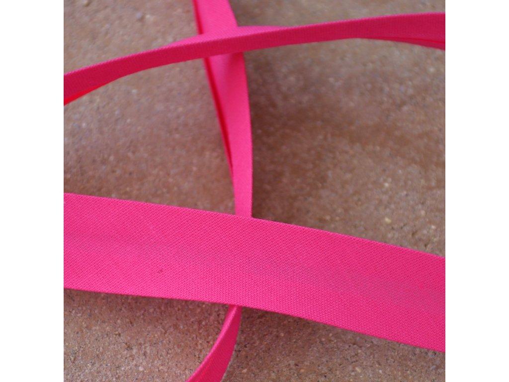 0,5 m šikmý proužek fuchsiově růžový (bavlna/polyester) 18 mm