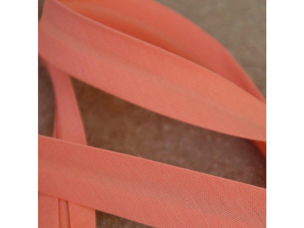 0,5 m šikmý proužek lososový 18 mm (bavlna/polyester)