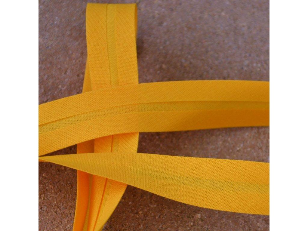 0,5 m šikmý proužek okrový 18 mm (bavlna/polyester)