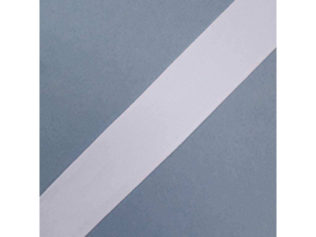 0,5 m rypsová stuha bílá 3 cm