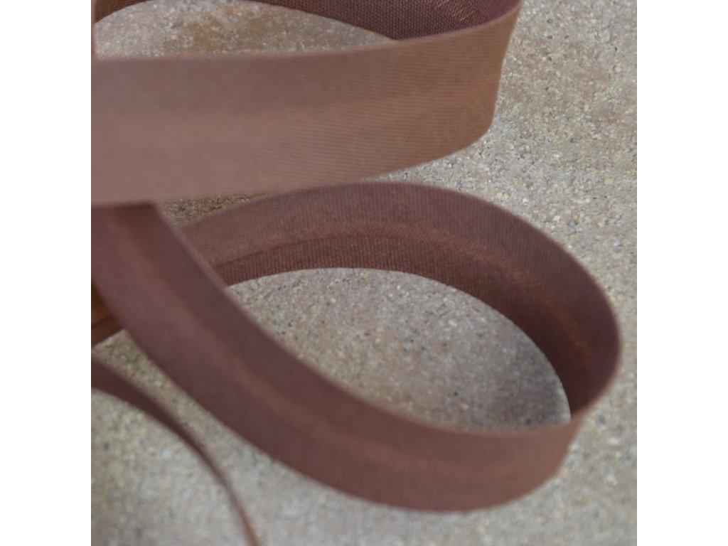 0,5 m šikmý proužek tmavě hnědý 18 mm (bavlna/polyester)