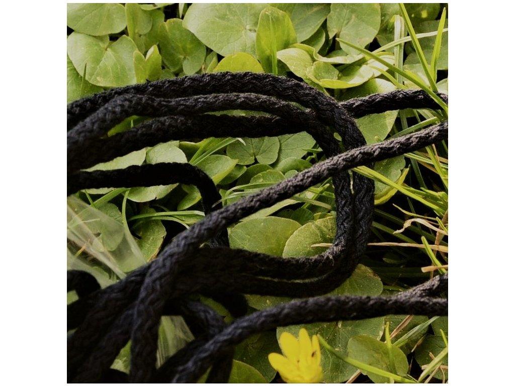 0,5 m bavlněná tkanice černá 0,5 cm