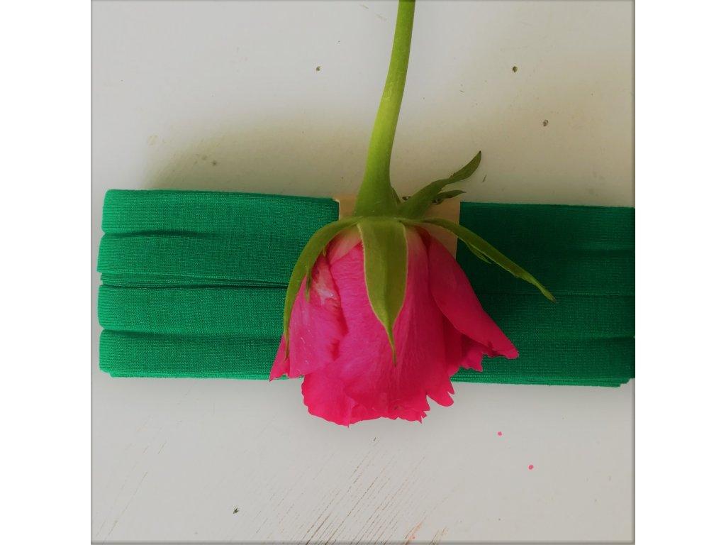 3 m šikmý proužek úplet extra zelený 20 mm