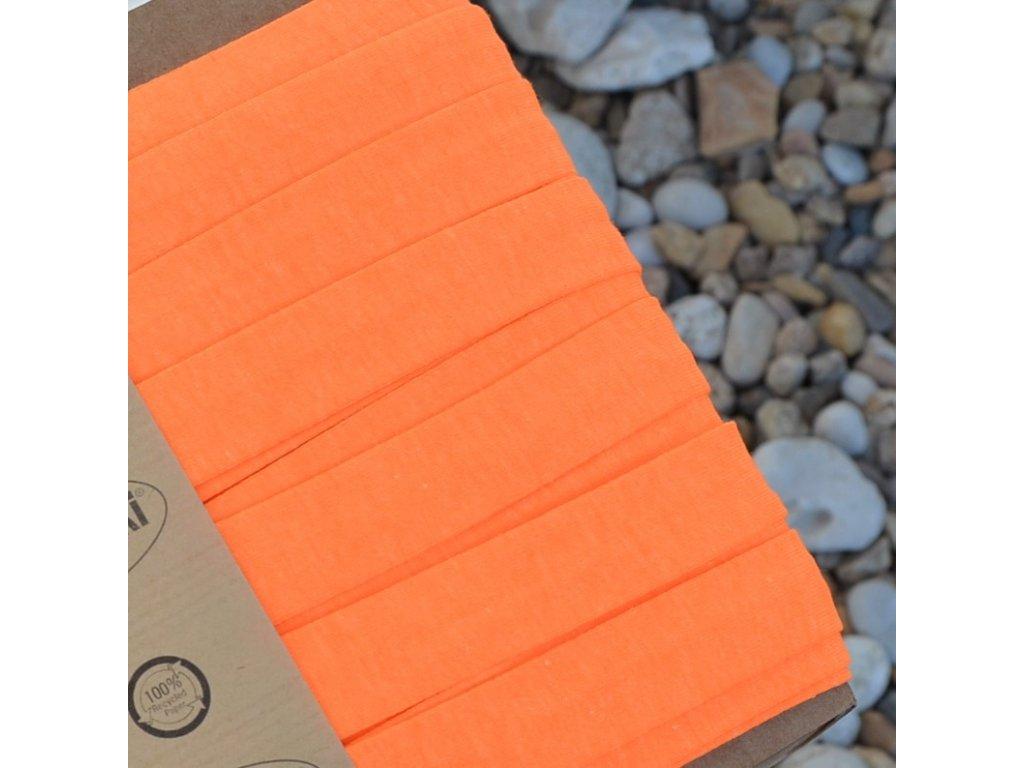 0,5 m šikmý proužek úpletový oranžový neon 20 mm