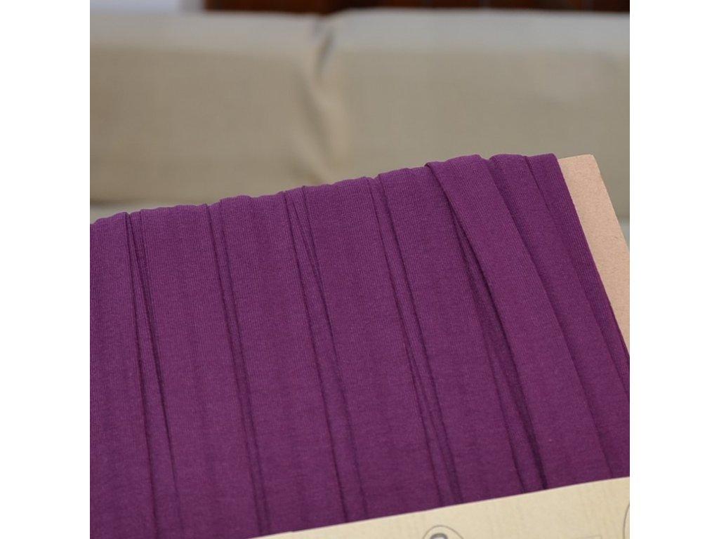 0,5 m šikmý proužek úpletový fialka 20 mm