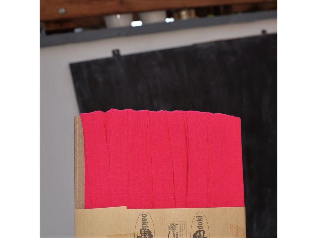 0,5 m šikmý proužek úpletový super růžový 20 mm
