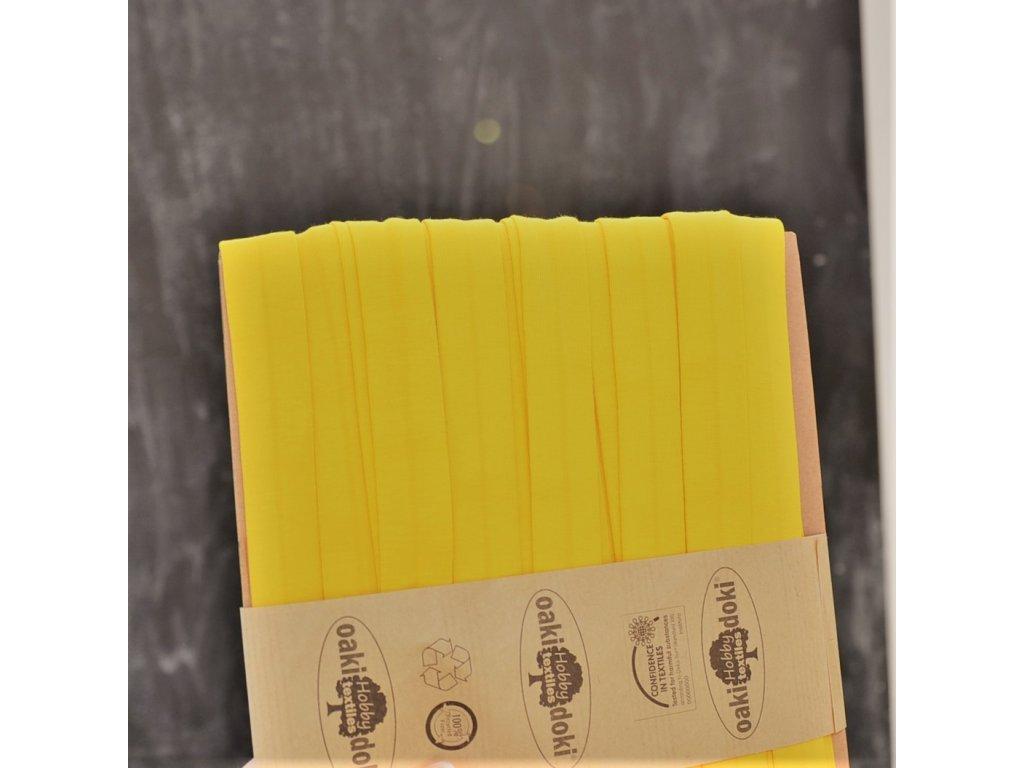 0,5 m šikmý proužek úplet žlutý 20 mm