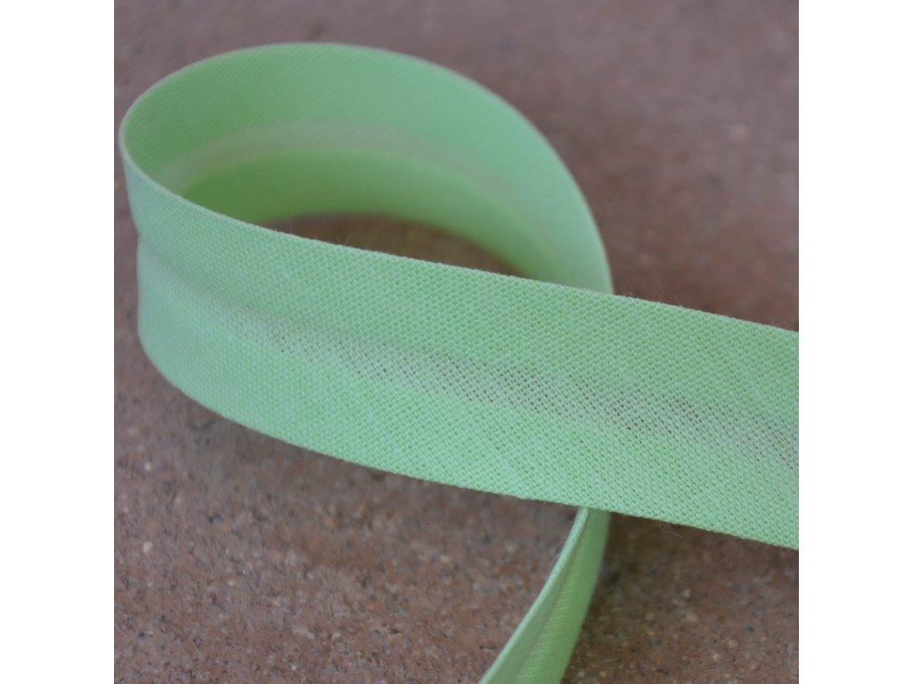 0,5 m šikmý proužek zelinkavý 18 mm (bavlna/polyester)