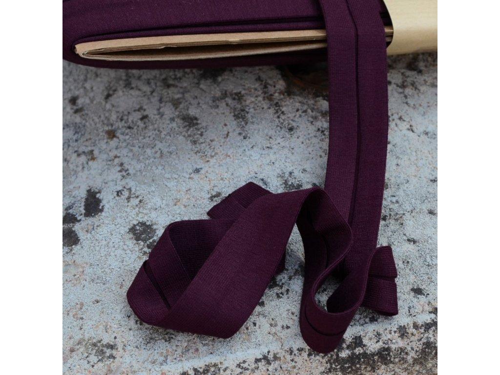 0,5 m šikmý proužek úplet tmavě fialový 20 mm