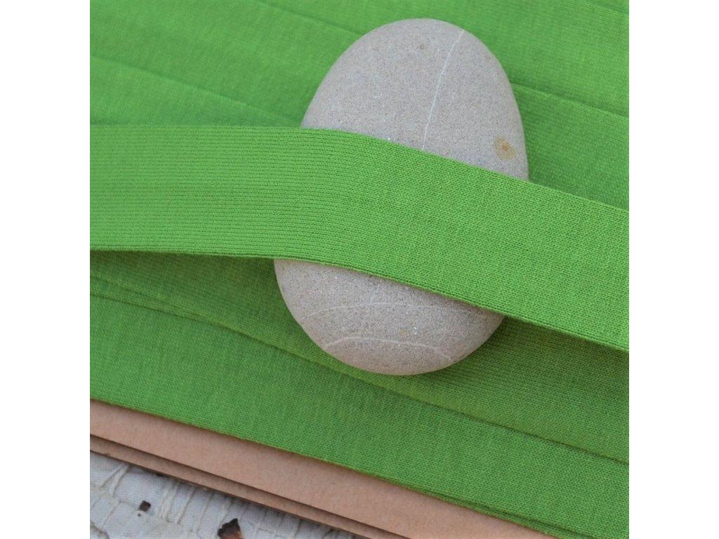 0,5 m šikmý proužek úplet zelený 20 mm