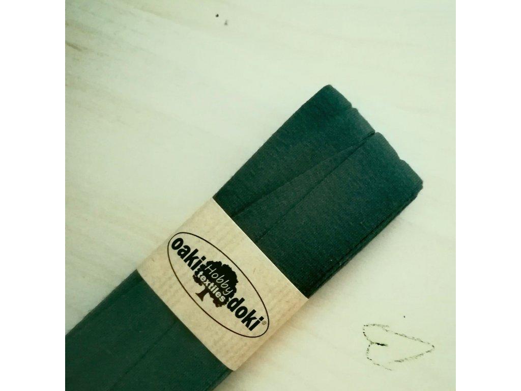 3 m šikmý proužek úplet tmavě zelený 20 mm