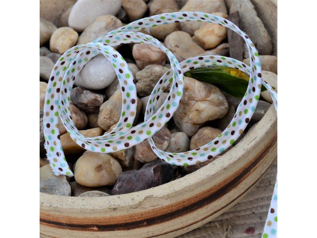 0,5 m paspule s puntíky garden 10 mm