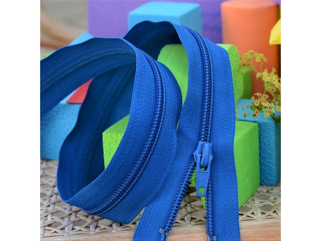 Dělitelný spirálový zip YKK - 60 cm, tmavě modrý