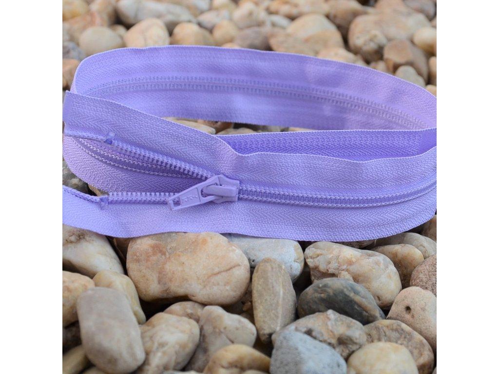 Dělitelný spirálový zip YKK - 46 cm, fialový