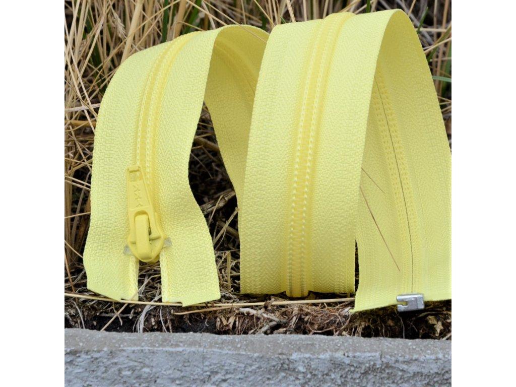 dělitelný spirálový zip YKK - 56 cm, žlutý