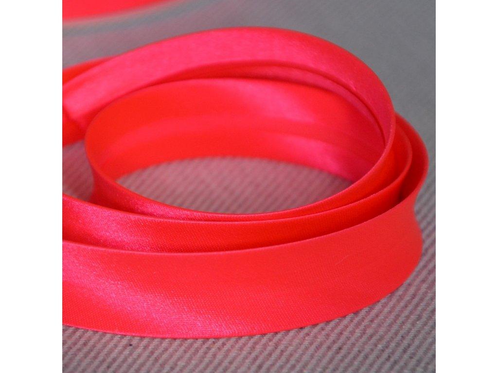 0,5 m šikmý proužek neon růžový 18 mm (100% polyester)
