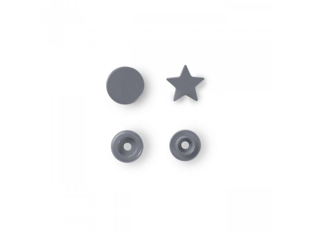 patentky hvězdičky Prym Color Snaps 12,4 mm šedé