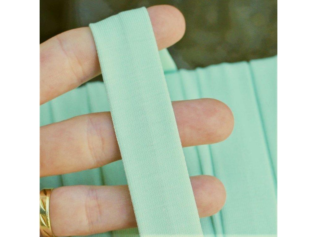 0,5 m šikmý proužek úplet zelinkavý 20 mm