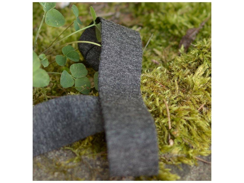0,5 m šikmý proužek úpletový tmavě šedý melír 20 mm