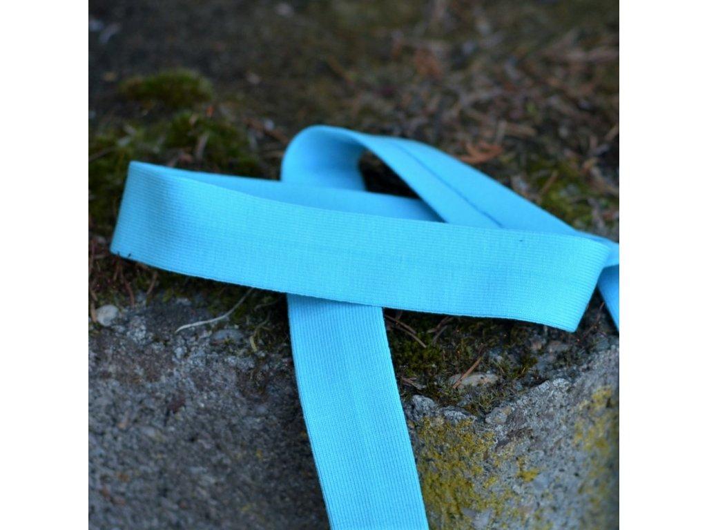 0,5 m šikmý proužek úpletový sytě modrý 20 mm