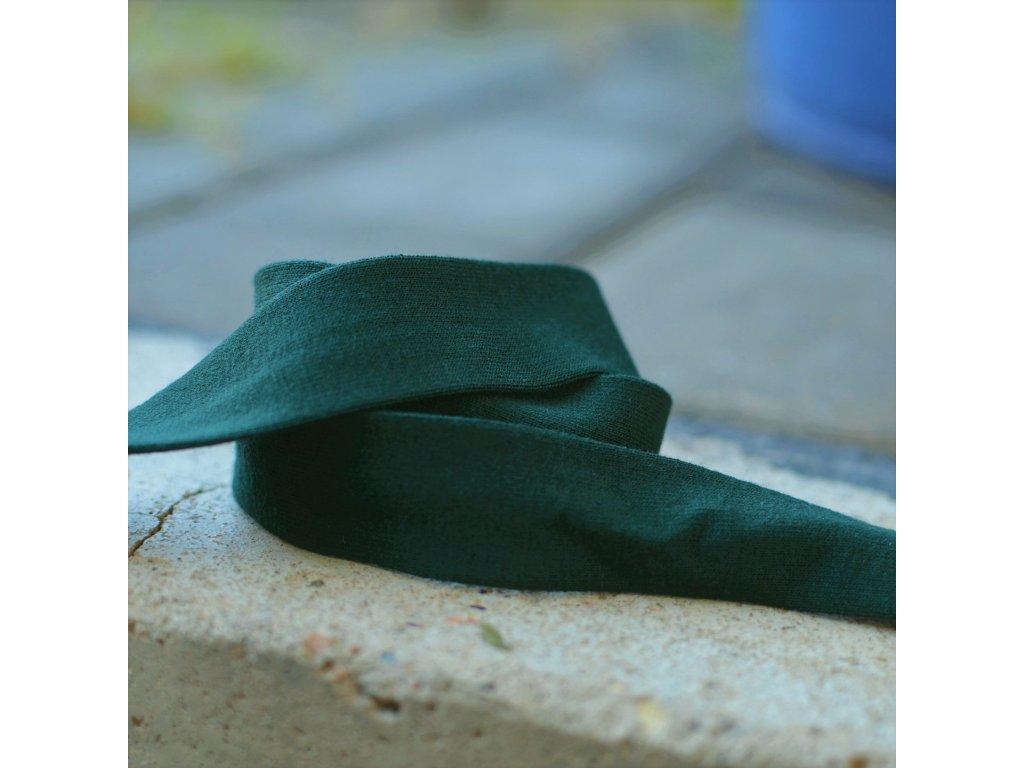 0,5 m šikmý proužek úplet tmavě zelený 20 mm