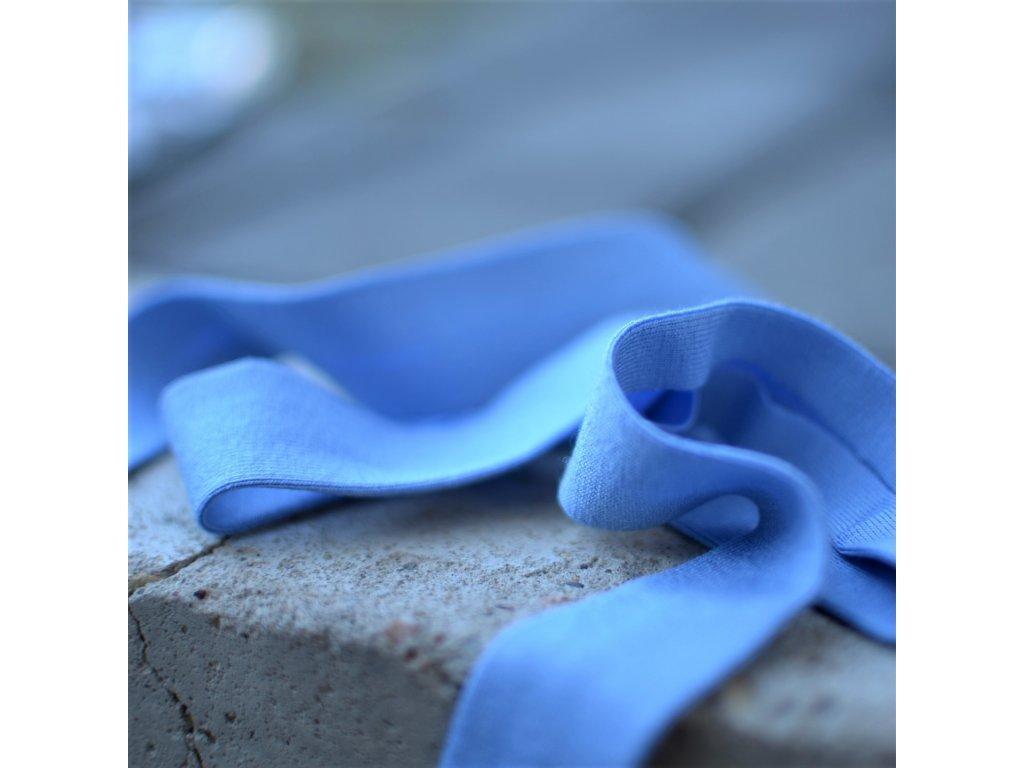 0,5 m šikmý proužek úplet modrý 20 mm