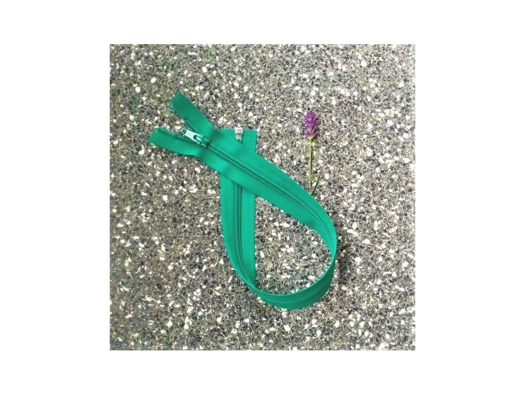 dělitelný spirálový zip YKK - 36 cm, zelený