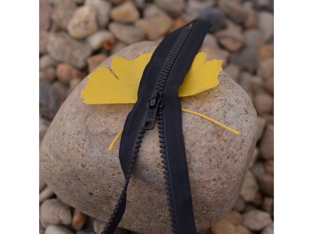 nedělitelný kostěný zip YKK - 40 cm, černý