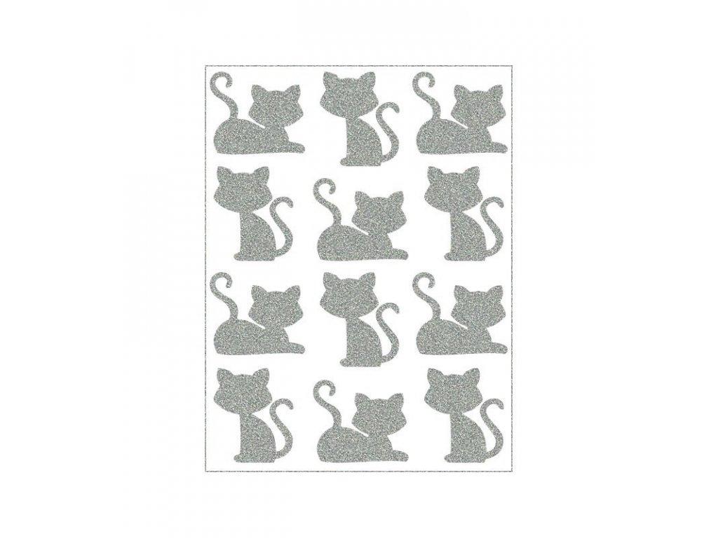 reflexní nažehlovací potisk - kočky