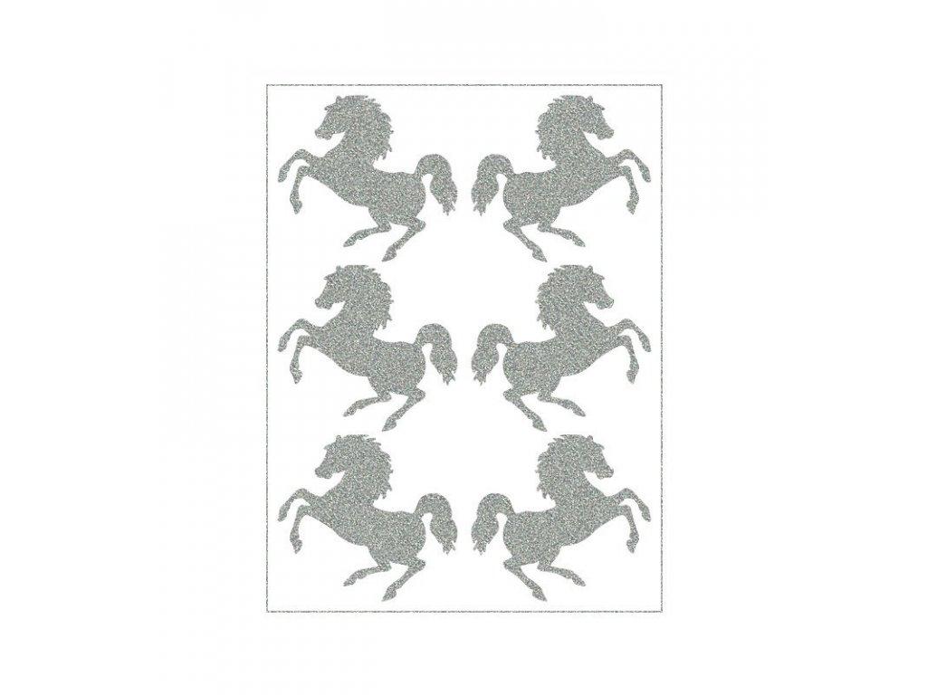 reflexní nažehlovací potisk - koně
