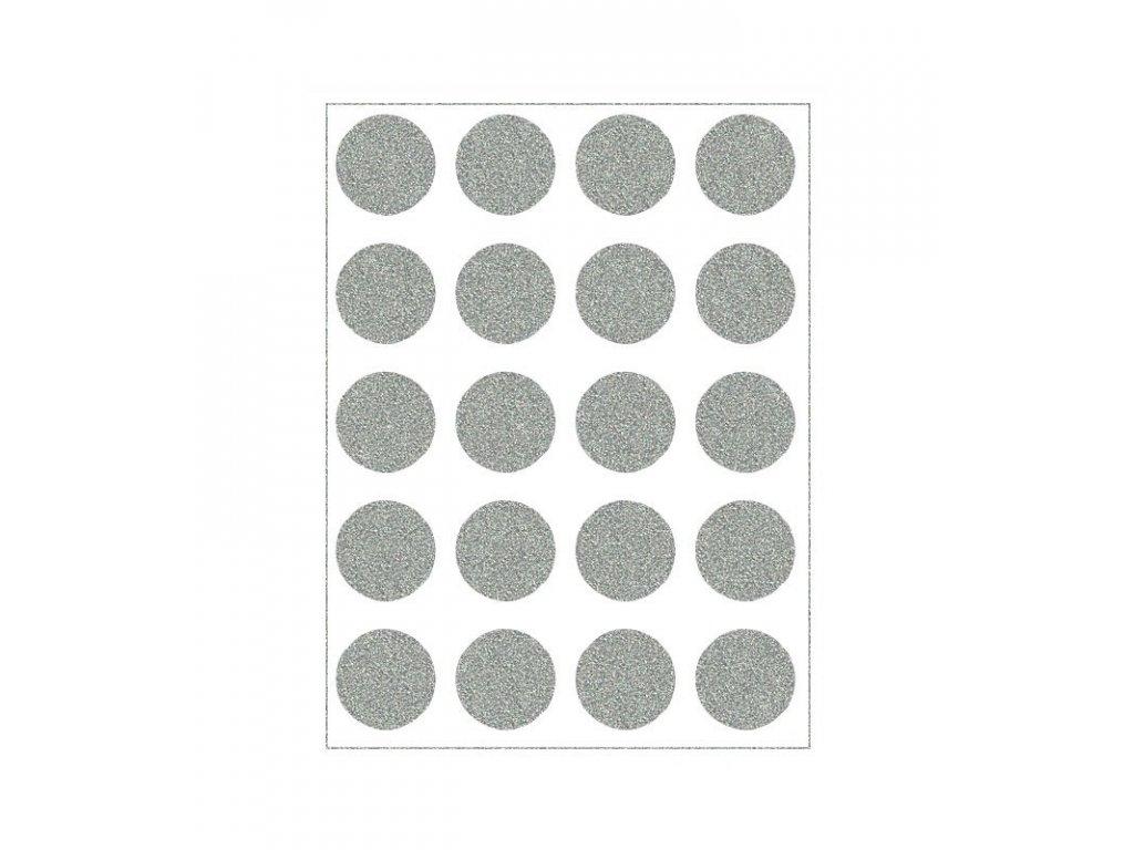 reflexní nažehlovací potisk - puntíky