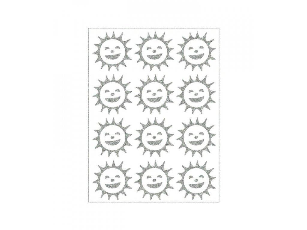 reflexní nažehlovací potisk - sluníčko