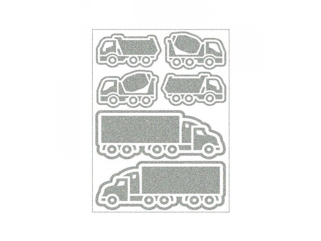 reflexní nažehlovací potisk - náklaďáky