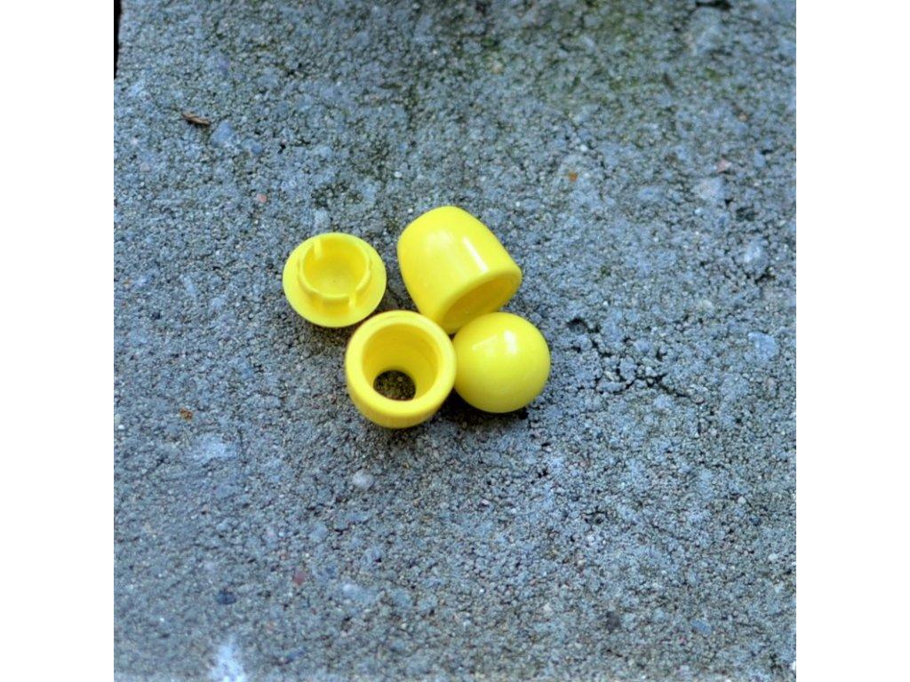 koncovka na tkanice 4 mm - žlutá